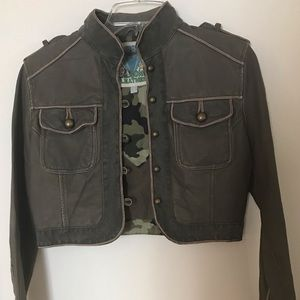 Wilson Leather Military Crop Leather Jacket
